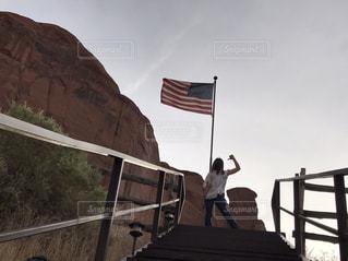国旗と共にの写真・画像素材[997268]