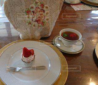 スイーツ,ケーキ,かわいい,カップケーキ,紅茶,ストロベリー,イチゴケーキ
