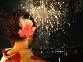 夏祭り 女性の写真・画像素材[671666]