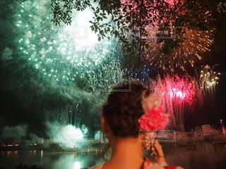 花火,髪飾り,夏祭り