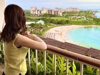 ハワイビーチ 女性の写真・画像素材[3445185]