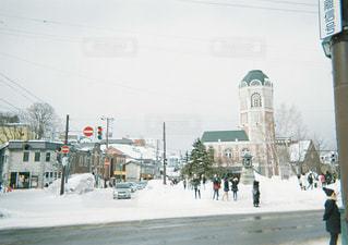 風景,雪,屋外,小樽,くもり,日中