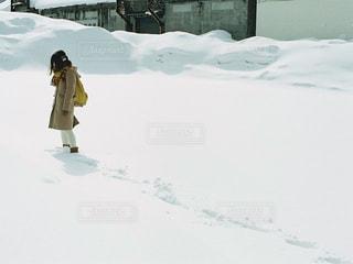 雪,白,北海道,女の子,洋服,人物,人,小樽,日中
