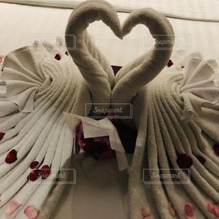 恋人,夜,ハート,ロマンチック,幸せ,白鳥,ホテル,ロマンティック,ハネムーン,新婚旅行,マーク,タオルアート,熱帯夜