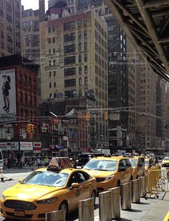 夏,ニューヨーク,海外,アメリカ,観光,都会,旅行,タクシー,イエローキャブ
