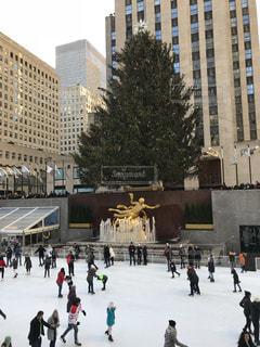 冬,ニューヨーク,アメリカ,観光,旅行,クリスマス,ロックフェラーセンター,スケート,モミの木,スケートリンク