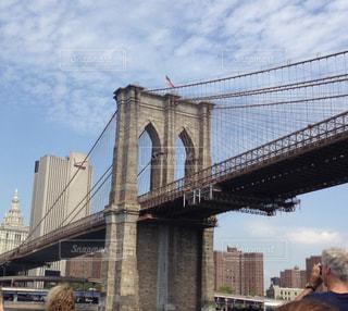 空,夏,ブルックリンブリッジ,橋,ニューヨーク,屋外,海外,雲,アメリカ,観光,旅行
