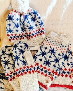 手編みのお揃い柄で冬仕度。の写真・画像素材[862559]