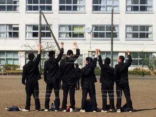 学生,友達,卒業,制服,仲間
