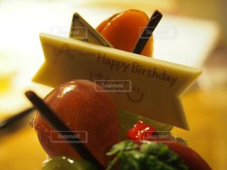 ケーキ,誕生日,プレート,ニコちゃん