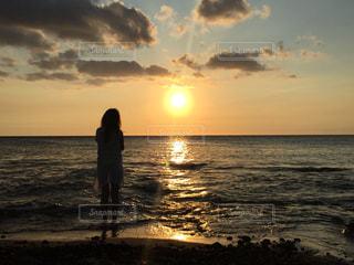 海,夕日,夕焼け,ハワイ,Hawaii,beach,sunset,サンセット
