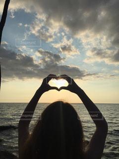 海,空,夕日,夕焼け,ハワイ,Hawaii,beach,sunset,サンセット