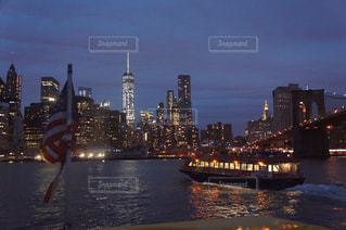夜景,屋外,水面,アメリカ,観光,旅行,マンハッタン,NYC,Brooklyn,brooklyn Bridge,OneWarldTawer