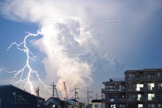 空、雷、雲、全ては夏の産物。の写真・画像素材[1427281]