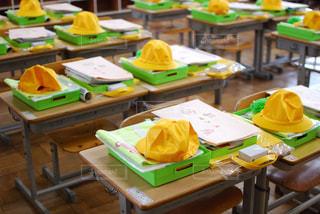 新入生を待つ教室での写真・画像素材[1174169]