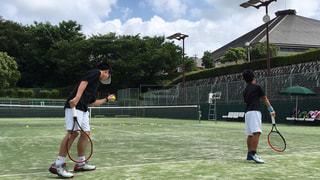 スポーツ,屋外,青空,テニスコート,テニス,運動,ラケット,ジュニアテニス