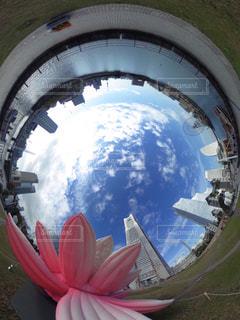 宇宙から地球のビューの写真・画像素材[1110174]