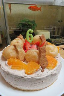 #ケーキ #happybirthday #シュークリーム #クッキー #猫の写真・画像素材[511600]