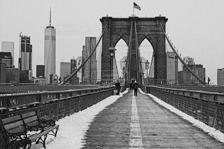 橋の黒と白の写真 - No.818122