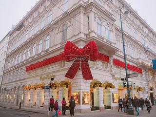街並み,赤,かわいい,リボン,クリスマス,可愛い,オーストリア,ウィーン,海外旅行,りぼん