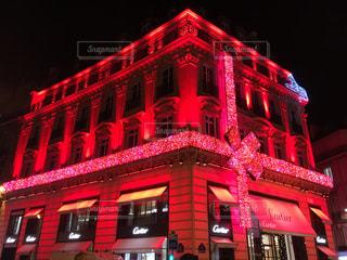 街並み,赤,かわいい,リボン,クリスマス,フランス,パリ,可愛い,海外旅行,シャンゼリゼ通り,りぼん,カルティエ