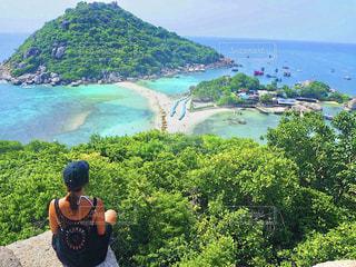 タイ ナンユアン島のビュースポットの写真・画像素材[1419849]