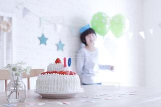 ケーキ,風船,子供,おやつ,こども,誕生日,記念日,パーティー,男の子,誕生日ケーキ,バースデーケーキ,手作りケーキ,ホームパーティー