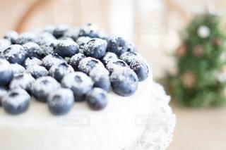 スイーツ,インテリア,ケーキ,かわいい,おやつ,ブルーベリー,イベント,クリスマス,パーティー,お家カフェ,クリスマスケーキ,手作りケーキ,甘いもの,ホームパーティー,ブルーベリーケーキ