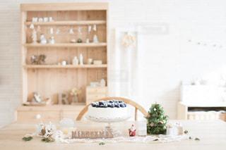 インテリア,ケーキ,白,DIY,ブルーベリー,クリスマス,ナチュラル,クリスマスツリー,レアチーズケーキ,手作りインテリア,ナチュラルカラー,ナチュラルインテリア,クリスマスインテリア