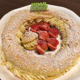ケーキ,誕生日,パリブレスト