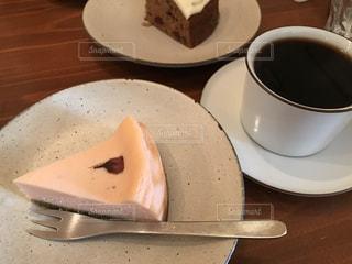 スイーツ,カフェ,ケーキ,コーヒー,ピンク,チーズケーキ,サクラチーズケーキ,シーズニング