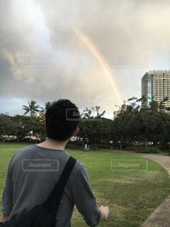 男性,30代,ハワイ,ホノルル,お散歩,兄,4月,ビーチパーク,men