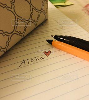 文字,ペン,ノート,メッセージ,手書き,言葉,aloha