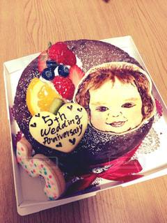 ケーキ,似顔絵,結婚記念日