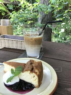 カフェ,テラス,山,大自然,カフェラテ,チーズケーキ,ソトカフェ,田舎カフェ