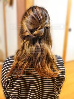 今日のヘアスタイルの写真・画像素材[1029623]
