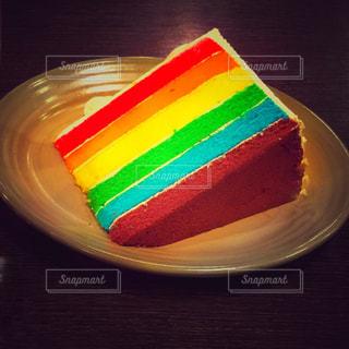 カフェ,ケーキ,カラフル,シンガポール,甘い,虹色,ケミカル