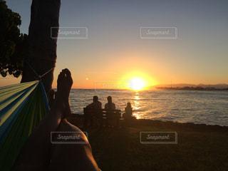 夕日,ハンモック,ハワイ,サンセット,アラモアナビーチ,綺麗な景色