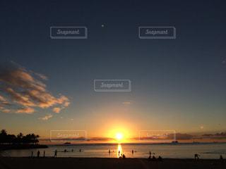 海,夕日,ハワイ,サンセット,アラモアナビーチ,綺麗な景色