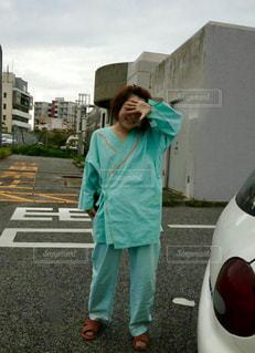 女性,パジャマ,病院,入院,医療,患者,院内着