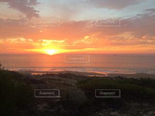 空,夕日,ビーチ,水平線,オーストラリア,サンセット,バンバリー