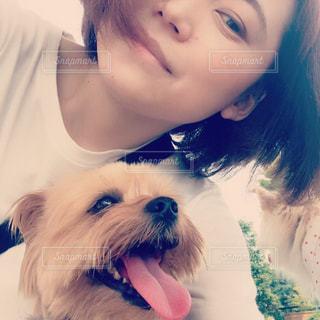 愛犬と私の写真・画像素材[2036552]