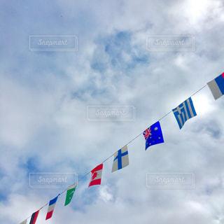 運動会の万国旗の写真・画像素材[1516651]