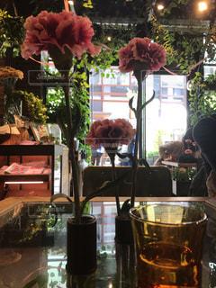 カフェ,緑,お花,テーブル,グリーン,お料理