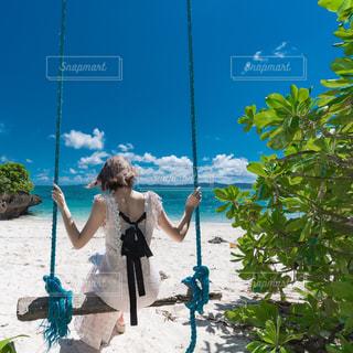 海辺のブランコの写真・画像素材[2380977]