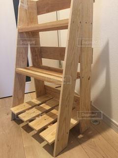 木製テーブルの写真・画像素材[802678]
