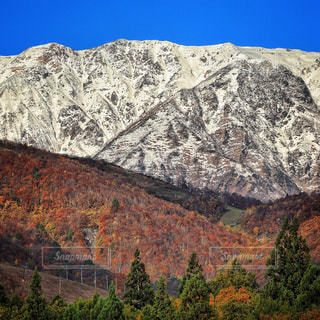 背景の山と渓谷の写真・画像素材[870794]