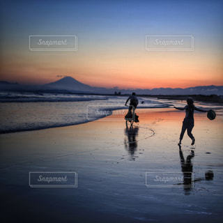 夕日を追いかけての写真・画像素材[1294043]