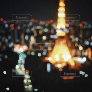 玉ボケタワーの写真・画像素材[2785296]