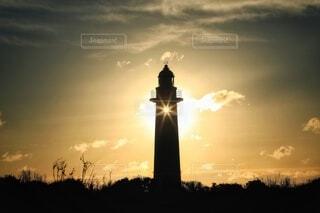 空,太陽,朝日,雲,シルエット,正月,灯台,お正月,日の出,光芒,新年,初日の出